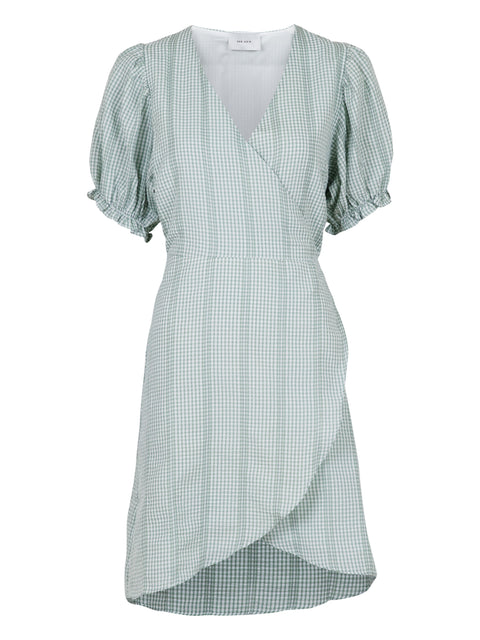 Spang Mini Check Dress - Green