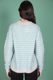 Amaris Knit O-neck - Aqua Haze