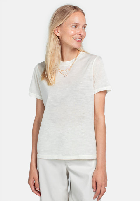 Wool Wide T-shirt - Cream (1889851965475)