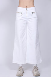 Contrast Stitch Pants - White (1591981899811)