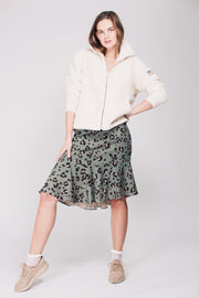 Kathryn Pile Zip Sweater - Antique White