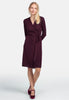 Wool Wrap Dress - Burgundy - Pierre Robert x Jenny Skavlan - Kjoler - VILLOID.no
