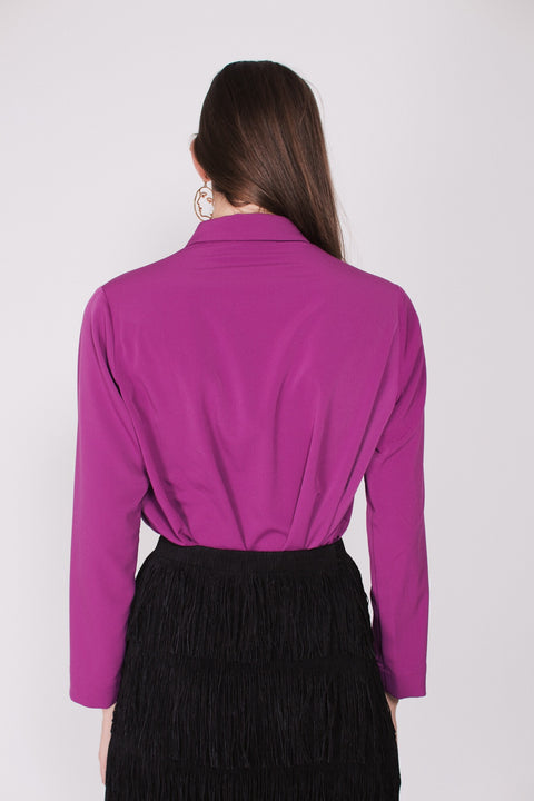 Rosie Shirt - Light Plum Crepè