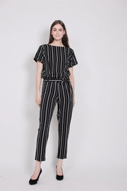 Stripes Jumpsuit - Black (1476706500643)