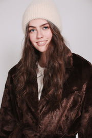 Barbara Faux Furcoat - Brown