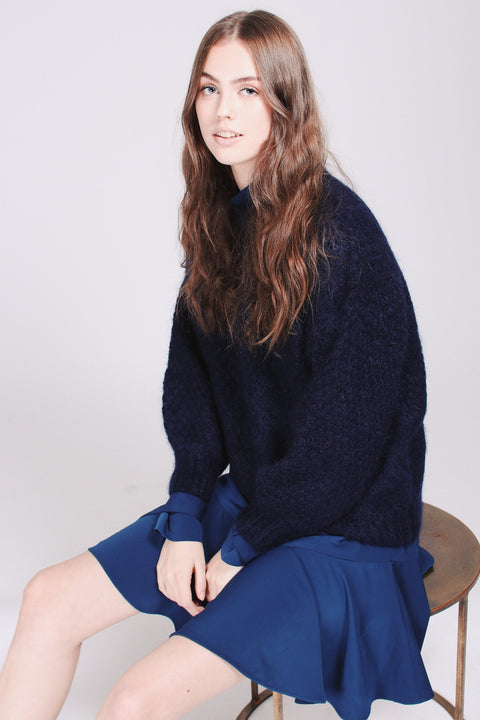April Mohair Sweater - Navy