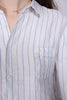 Mona stripeblouse - white - Line of Oslo - Topper - VILLOID.no