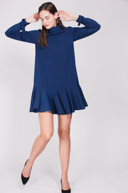 Cherry Dress - Midnight Blue Crepè