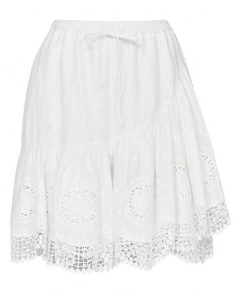 Clara Lace Skirt - White