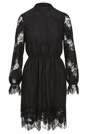 Short lace dress - Black
