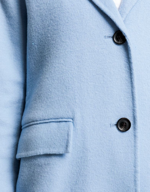 Double Faced Coat - Capri Blue