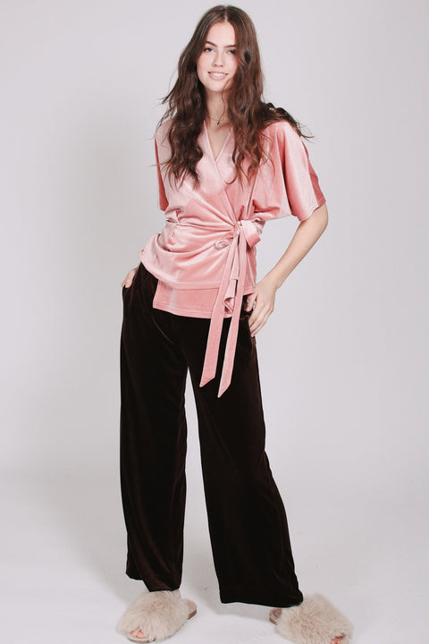 Aladdin Velvet Pants - Brown