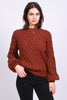 Kaylee Knit Lurex - Rust - MAUD - Gensere - VILLOID.no