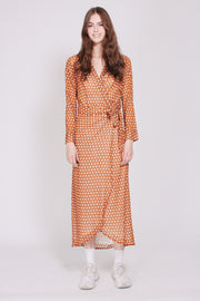 Fanny Dots Maxidress - Mustard