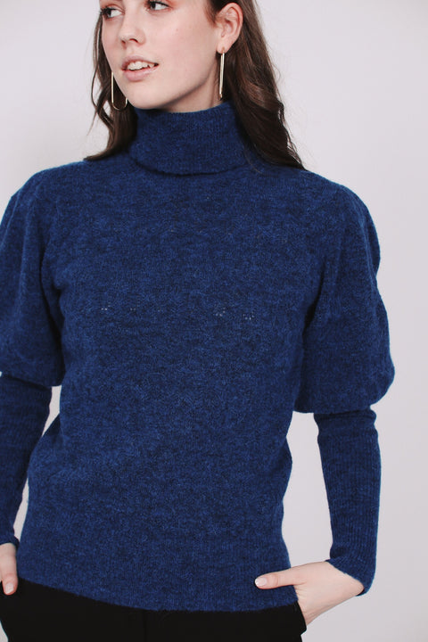 Pointelle turtle neck - Blue Nights