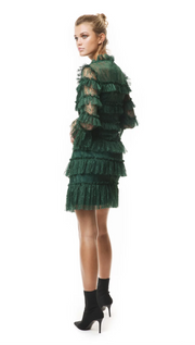 Carmine mini dress - Pine Green
