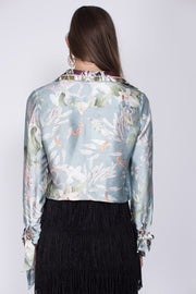 Phoebe blouse - Blue Jungle