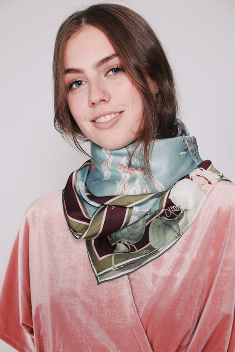 Jacky scarf - Blue Jungle