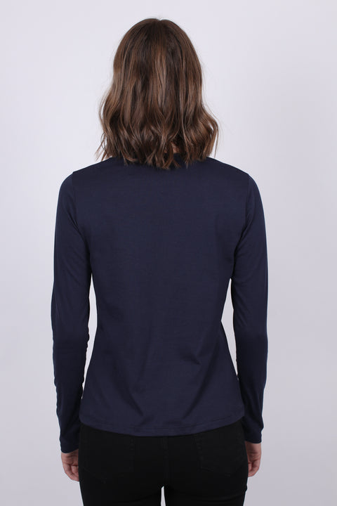 Arch Logo LS T-shirt - Evening Blue