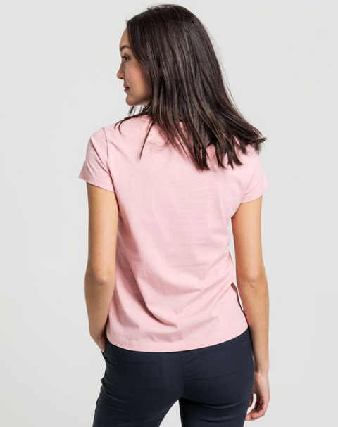 Gant Lock Up SS T-shirt - Summer Rose