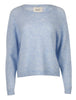 Brook Knit New Loose O-Neck - Brunnera Blue