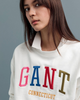 Multi Color Graphic Sweatshirt - Eggshell