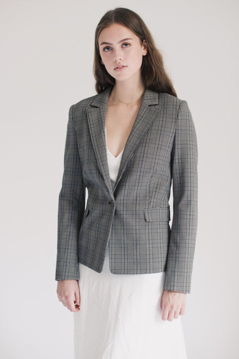 2ND Create Checked Jacket - Driftwood