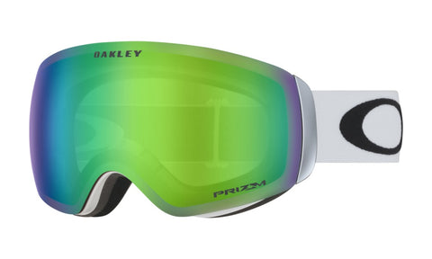 Flight Deck XM Matte White - Prizm Jade Iridium - Goggles (4326438633581)