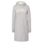 Gant Hoodie Dress - Light Grey Melange