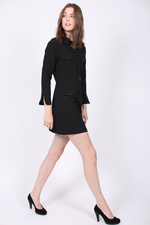 Tailored Blazer Dress - Black (1894288818211)