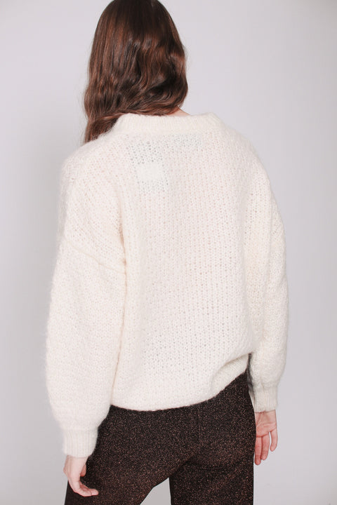 April Mohair Sweater - Ivory