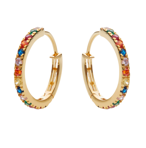 Nubia Big Color Earring - Gold