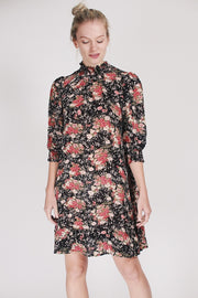 Semi Couture High Neck Dress - Asian Garden
