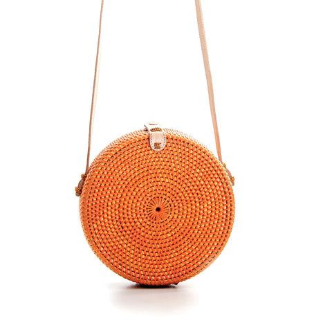 Rolling Roundie Bag - Orange
