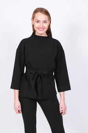 Turtleneck Top - Black