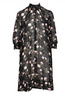 Delicate Semi A-line Dress - Black Poppy - ByTimo - Kjoler - VILLOID.no
