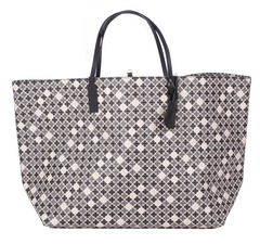 Abi Tote - Black White Charcoal