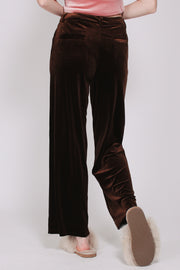 Aladdin Velvet Pants - Brown (1865561538595)