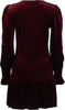 Cecci Velour Dress - Bordeaux