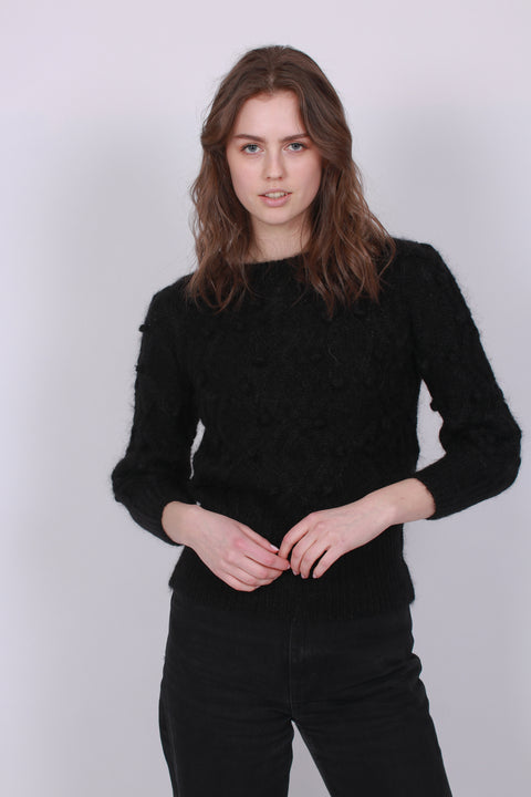 Sienna Chunky Knit Sweater - Black