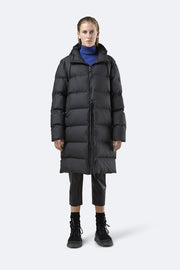 Long Puffer Jacket - Black (4439442522221)