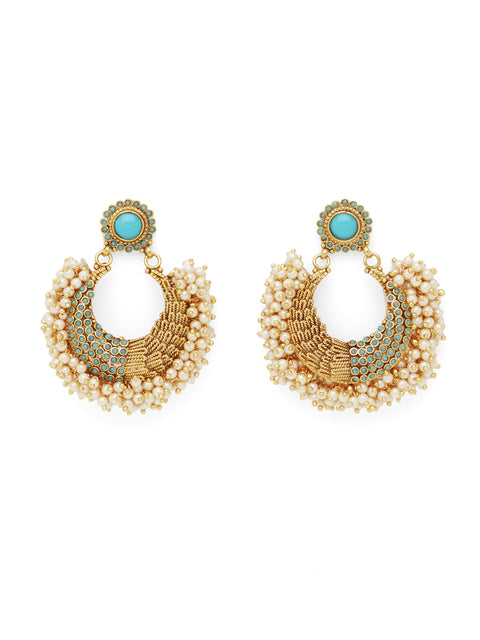The Small Tanushri Earrings - Turqoise (1786321928227)