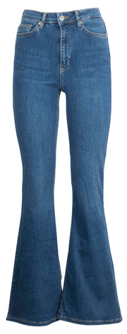 Skinny Bootcut Jeans - Mid Blue