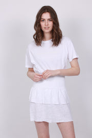 Lisbet Linen Skirt - White