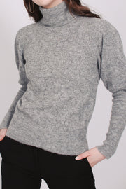 Pointelle turtle neck - Grey mel