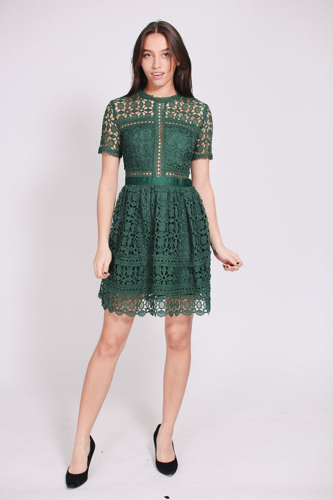 Nora dress - Pine Green