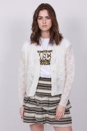 Palm Knit Cardigan - Off White