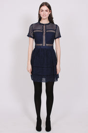 Emily dress - Dark Blue (4397534150765)