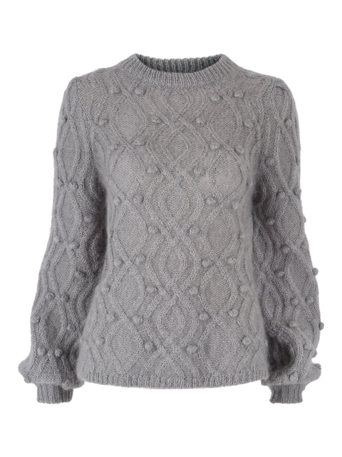 Andrea Chunky Knit Sweater - Grey