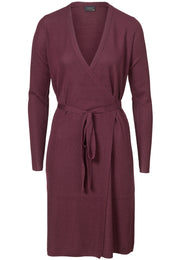 Wool Wrap Dress - Burgundy (1889852653603)